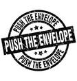 push the envelope round grunge black stamp vector image vector image