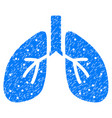 respiratory system grunge icon vector image