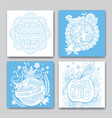 rosh hashanah cards collection vector image vector image