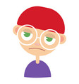 sad young hipster vector image