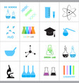 science and chemistry related icons vector image vector image