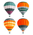set colorful air balloons at white background vector image