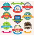set vintage badges and labels vector image vector image