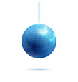 sparkling silver and blue disco ball vector image vector image