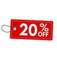special offer 20 off label or price tag vector image vector image