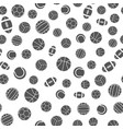 sports balls seamless pattern vector image