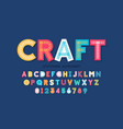 stitched font running stitch alphabet letters and vector image vector image