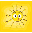 summer sun face cartoon vector image vector image