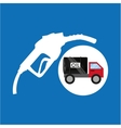 tank truck oil station gas vector image
