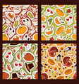 thanksgiving food seamless pattern traditional vector image vector image
