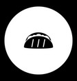 Tortilla mexico fast food simple black icon eps10 vector image