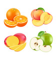 various fresh fruits vector image vector image