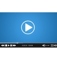 Video player template for web vector image vector image