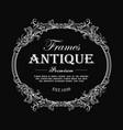 vintage frame hand drawn antique engraving label vector image vector image