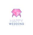 wedding line logo design abstract ring vector image vector image
