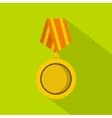 Winning medal icon flat style vector image vector image