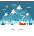 winter landscape at night vector image
