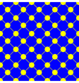 Yellow Polka dot Chess Board Grid Blue vector image vector image