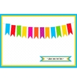 Colorful little flags on the card vector image