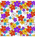 Floral Cartoon Seamless vector image