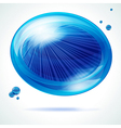 Vivid blue bubble vector image