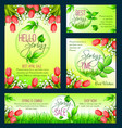 spring sale banner template with blooming flower vector image
