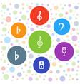 7 treble icons vector image vector image