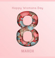 8 march day greeting card frame international vector image vector image