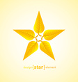 Abstract design element star with yellow autumn vector image vector image
