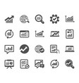 analysis icons charts reports and graphs vector image vector image
