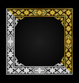 ancient thai pattern frame gold and white