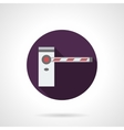 Barrier purple round flat icon vector image vector image