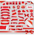 big red ribbon set vector image vector image