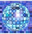 Blue shining disco ball vector image vector image