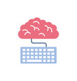 brain cloud computing school education learning vector image vector image