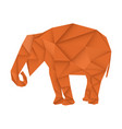 brown elephant polygonal vector image vector image