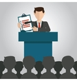 Businessman giving a presentation vector image