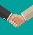 businessman handshake shaking hands vector image