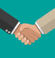 businessmans handshake shaking hands vector image