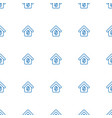 buying a house icon pattern seamless white vector image vector image