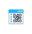 calendar barcode logo icon design vector image vector image