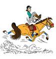 cartoon trotting horse vector image vector image