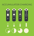 charging status of battery element for infographic vector image vector image