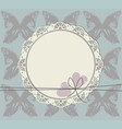 circle frame with lace ornament vector image