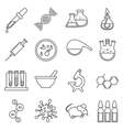 Clinical medical laboratory line icons set vector image