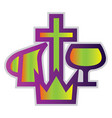 colorful christian missionary aliance symbol on a vector image vector image
