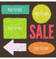 Colorful doodle banners vector image vector image