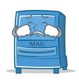 crying mailbox character cartoon style vector image vector image