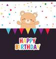 cute bear cute bear vector image vector image
