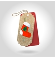 cute Christmas gift tags with christmas vector image vector image